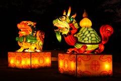 Мифический фонарик китайца животных Стоковые Изображения
