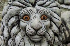 Мифологическая статуя льва Стоковые Изображения RF