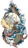 Мифологический гиппокамп лошади моря бесплатная иллюстрация
