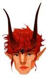 Мифологическая головка демона. бесплатная иллюстрация