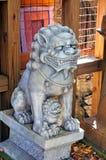 Мифологические статуи льва Стоковое фото RF