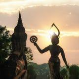 Мифология и религиозные статуи на Wat Xieng Khuan Будде паркуют Лаос стоковые фотографии rf
