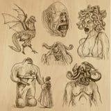 Мифы и изверги иллюстрация штока
