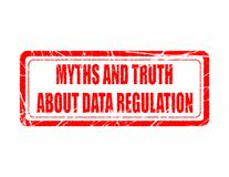 Мифы и правда о регулировке данных, общей регулировке защиты данных Стоковые Изображения RF