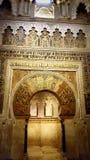 Михраб мечети rdoba ³ CÃ Стоковые Изображения