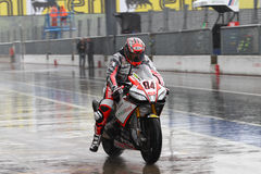 Мишель Fabrizio #84 на Superbike 1000 Roma красных дьяволов фабрики Aprilia RSV4 WSBK Стоковые Фотографии RF