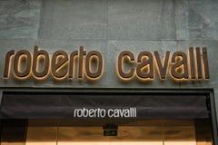 Милан бутика Роберто Cavalli Стоковая Фотография