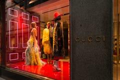 Милан бутика Gucci Стоковое фото RF