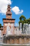 Милан, замок Sforza Стоковые Изображения RF