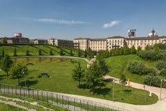 Милан Италия: парк на Portello Стоковая Фотография RF