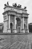 Милан Италия: Побежка della Arco Стоковая Фотография