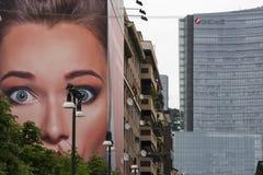 Милан (Италия), современные здания стоковая фотография