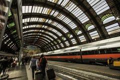 Милан, поезд центральной станции Стоковое фото RF