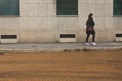 Милан flooding Стоковые Фото