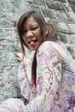 Милая азиатская девушка быть дерзкий Стоковая Фотография RF
