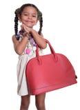 Милая Афро-американская малая девушка одевала как wi взрослой женщины Стоковое Изображение