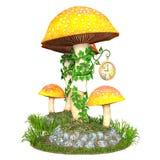 Милая башня с часами гриба Стоковое фото RF
