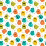 Милая безшовная картина с извергами smiley шаржа Различный fl бесплатная иллюстрация