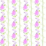 Милая безшовная картина с флористическим и листьями Стоковое Изображение