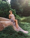Милая беременная женщина Стоковое фото RF