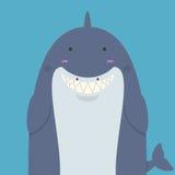 Милая большая тучная акула Стоковое Фото