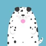 Милая большая тучная далматинская собака Стоковая Фотография