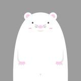 Милая большая тучная белая мышь Стоковые Изображения