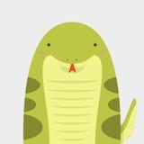 Милая большая тучная змейка Стоковые Изображения