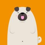 Милая большая тучная собака мопса Стоковые Изображения