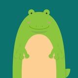 Милая большая тучная лягушка Стоковые Изображения