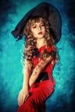 милая ведьма стоковая фотография rf