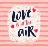 Милая влюбленность карточки влюбленности вектора в воздухе Стоковое Фото