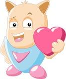 Милая влюбленность персонажа из мультфильма Стоковые Фото