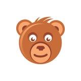 Милая голова бурого медведя иллюстрация штока