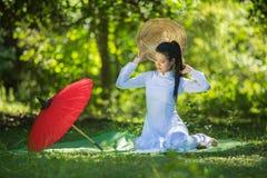 Милая девушка в Вьетнаме Стоковые Изображения