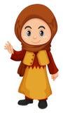 Милая девушка в костюме Катара иллюстрация вектора