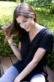 Милая девушка в парке Стоковое Фото