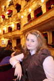 Милая девушка в театре Стоковая Фотография RF