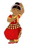 Милая девушка индейца танцев иллюстрация штока