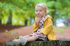 Милая девушка малыша в парке Стоковое Изображение