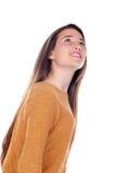 Милая девушка подростка с 16 летами старый смотреть вверх Стоковая Фотография RF