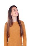 Милая девушка подростка с 16 летами старый смотреть вверх Стоковая Фотография