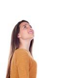 Милая девушка подростка с 16 летами старый смотреть вверх Стоковые Изображения RF