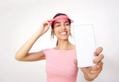 Милая девушка принимая selfie с мобильным телефоном Стоковые Изображения