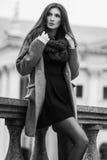Милая девушка стоит на предпосылке здания Стоковые Фото