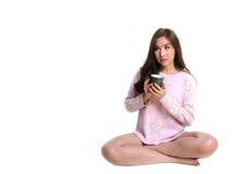 Милая девушка с кружкой кофе Стоковая Фотография