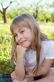 Милая девушка улыбки стоковое изображение rf