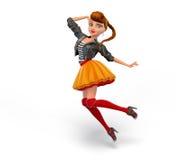 Милая девушка шаржа 3d Стоковое Изображение