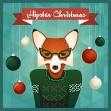 Милая девушка Fox в свитере иллюстрация штока
