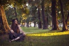 Милая девушка hippie стоковое фото
